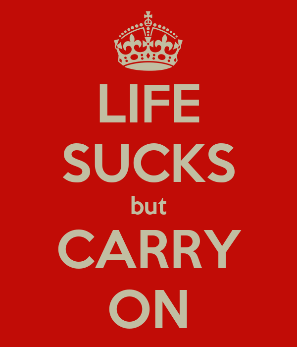 LIFE SUCKS but CARRY ON