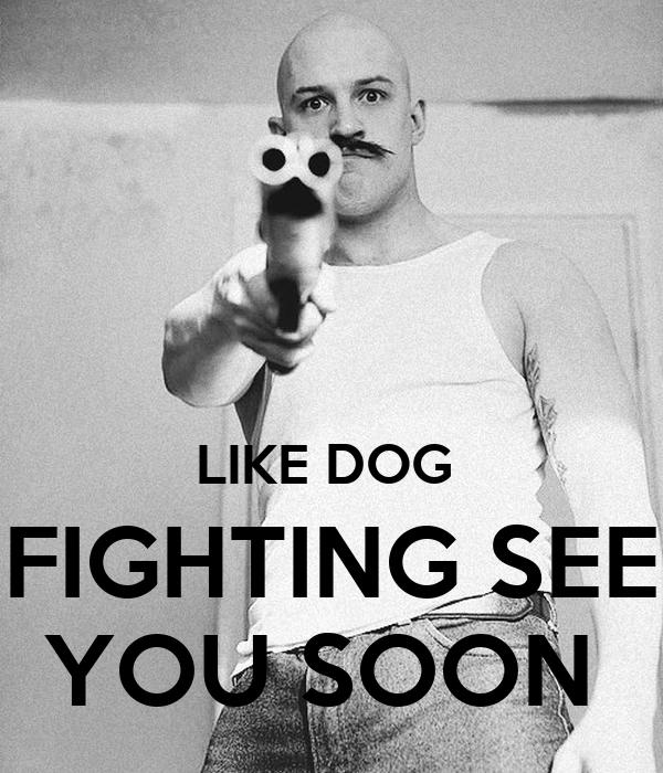 LIKE DOG  FIGHTING SEE YOU SOON