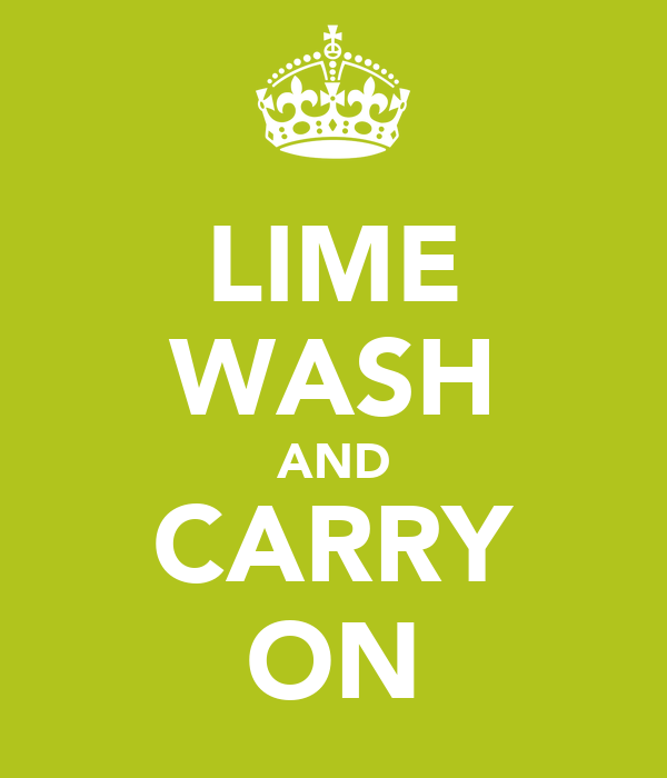LIME WASH AND CARRY ON