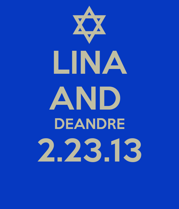LINA AND  DEANDRE 2.23.13
