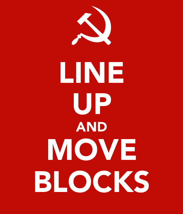 LINE UP AND MOVE BLOCKS
