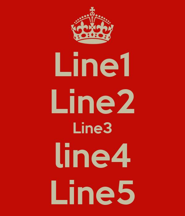 Line1 Line2 Line3 line4 Line5