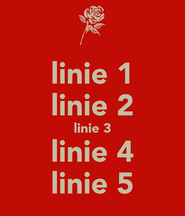 linie 1 linie 2 linie 3 linie 4 linie 5