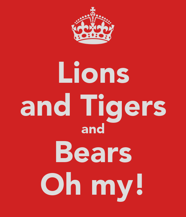 Lions and Tigers and Bears Oh my!