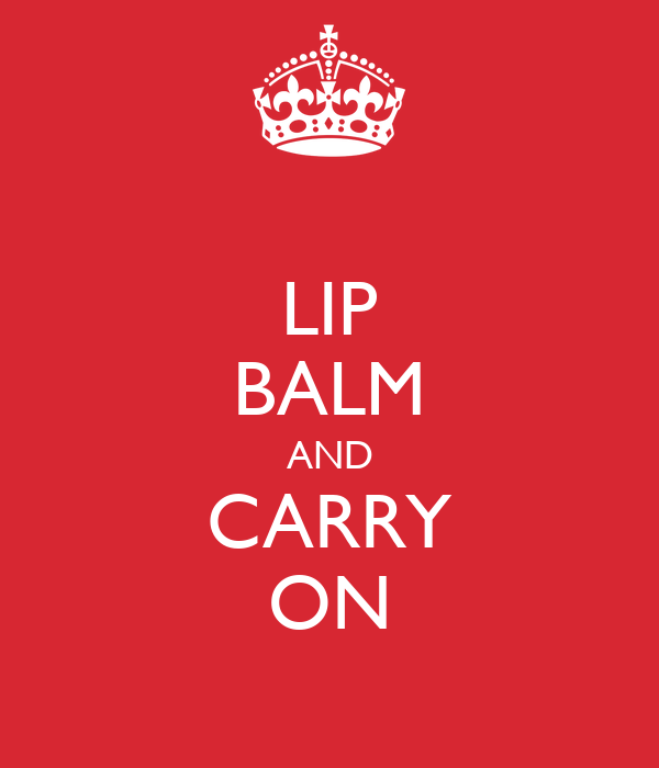 LIP BALM AND CARRY ON