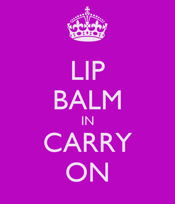 LIP BALM IN CARRY ON