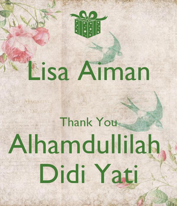Lisa Aiman  Thank You Alhamdullilah  Didi Yati