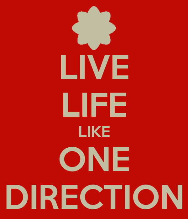 LIVE LIFE LIKE ONE DIRECTION