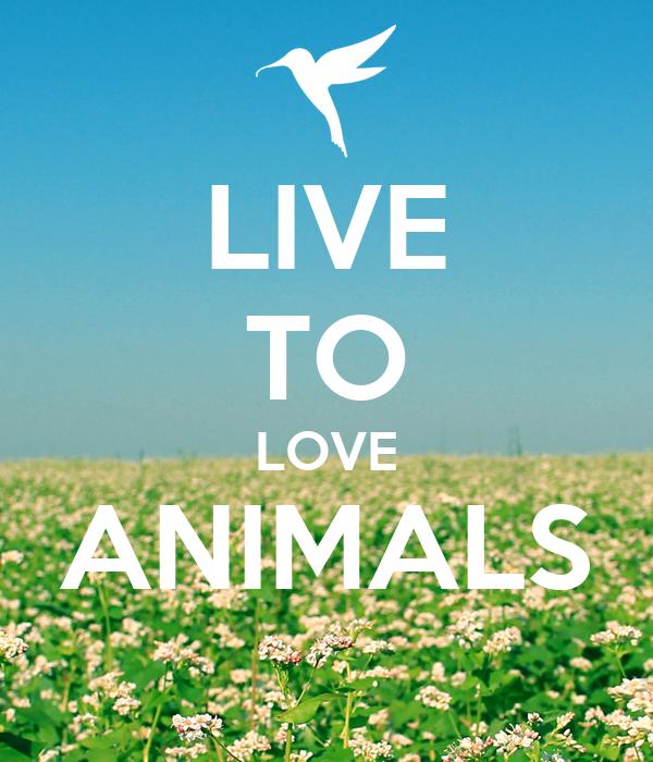 LIVE TO LOVE ANIMALS