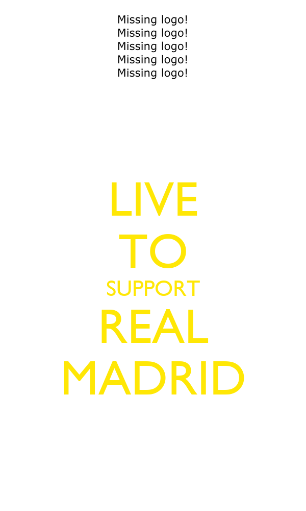 LIVE TO SUPPORT REAL MADRID