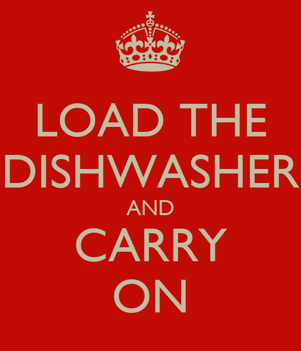 LOAD THE DISHWASHER AND CARRY ON