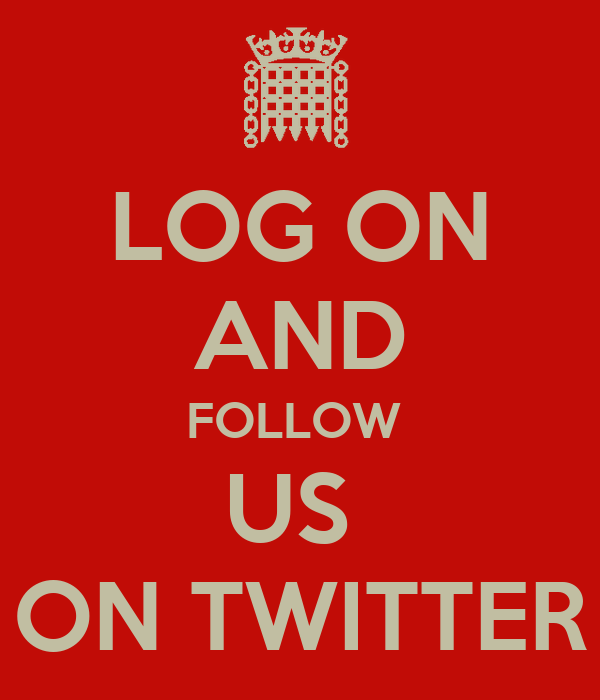 LOG ON AND FOLLOW  US  ON TWITTER