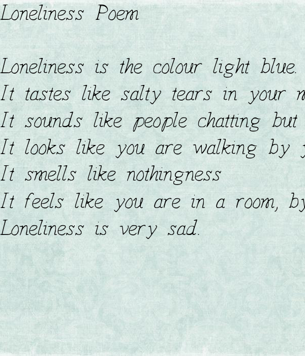 Loneliness Poem