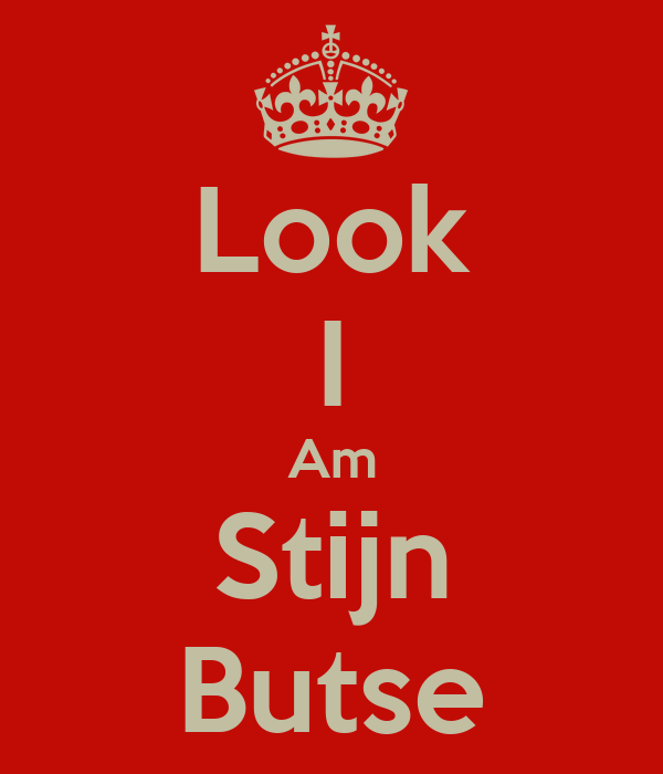 Look I Am Stijn Butse