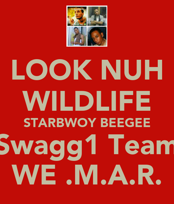LOOK NUH WILDLIFE STARBWOY BEEGEE Swagg1 Team WE .M.A.R.