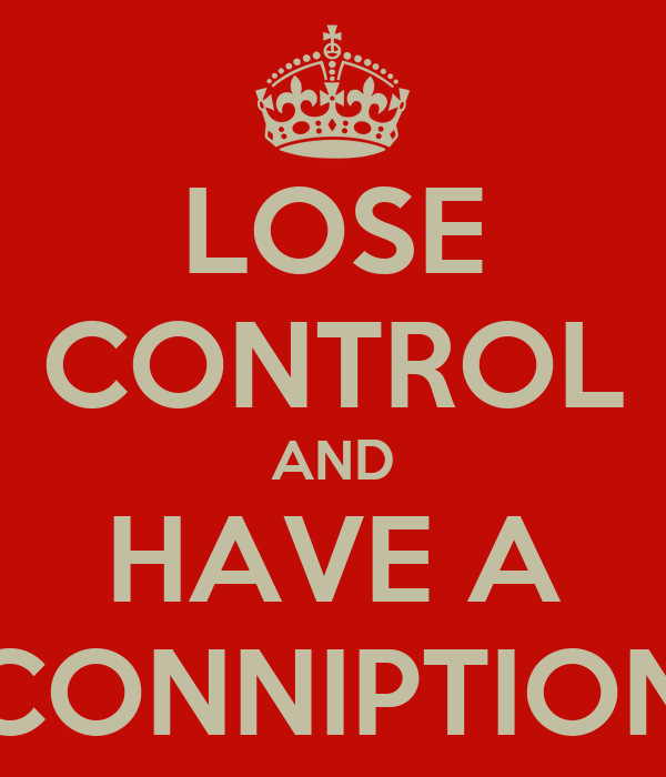 LOSE CONTROL AND HAVE A CONNIPTION