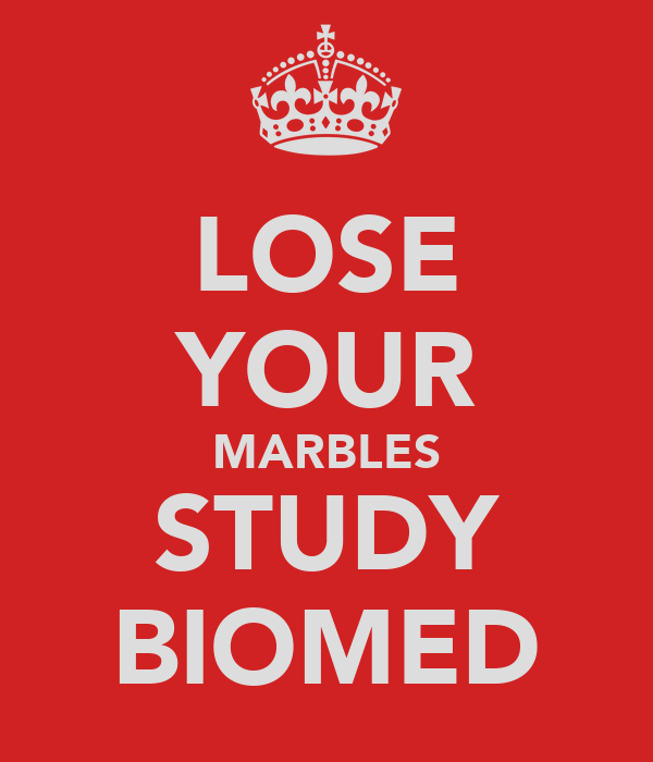 LOSE YOUR MARBLES STUDY BIOMED