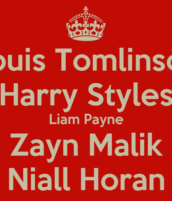 Louis Tomlinson Harry Styles Liam Payne Zayn Malik Niall Horan