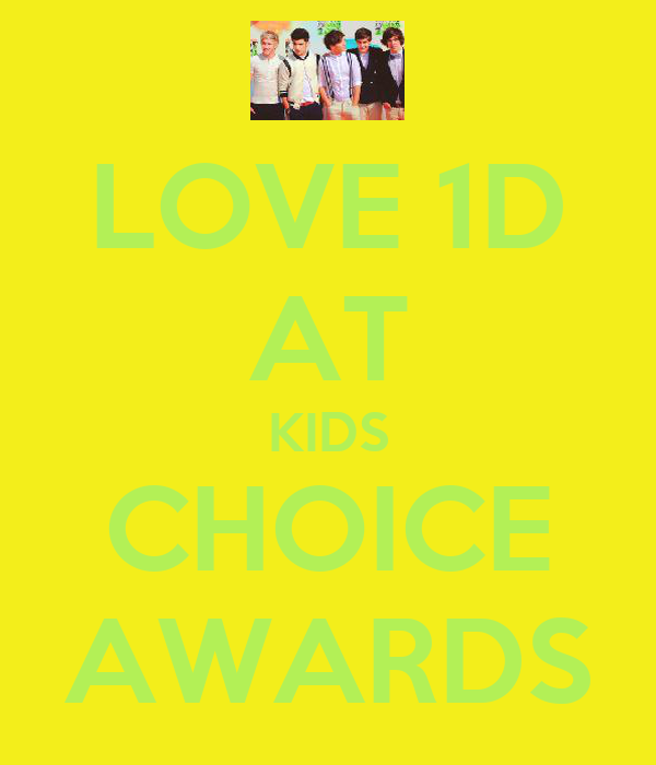 LOVE 1D AT KIDS CHOICE AWARDS