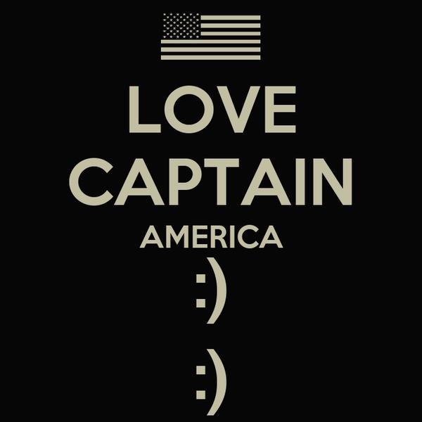 LOVE CAPTAIN AMERICA :) :)