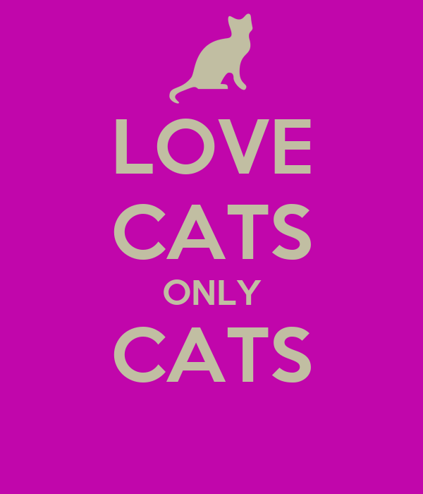 LOVE CATS ONLY CATS