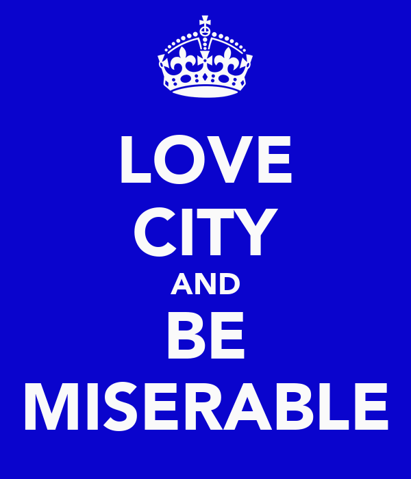 LOVE CITY AND BE MISERABLE