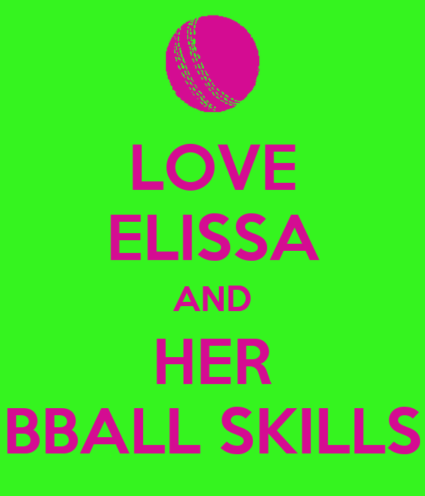 LOVE ELISSA AND HER BBALL SKILLS