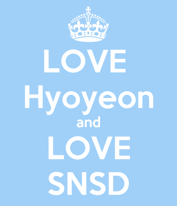LOVE  Hyoyeon and LOVE SNSD