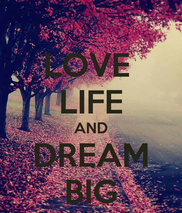 LOVE  LIFE AND DREAM BIG