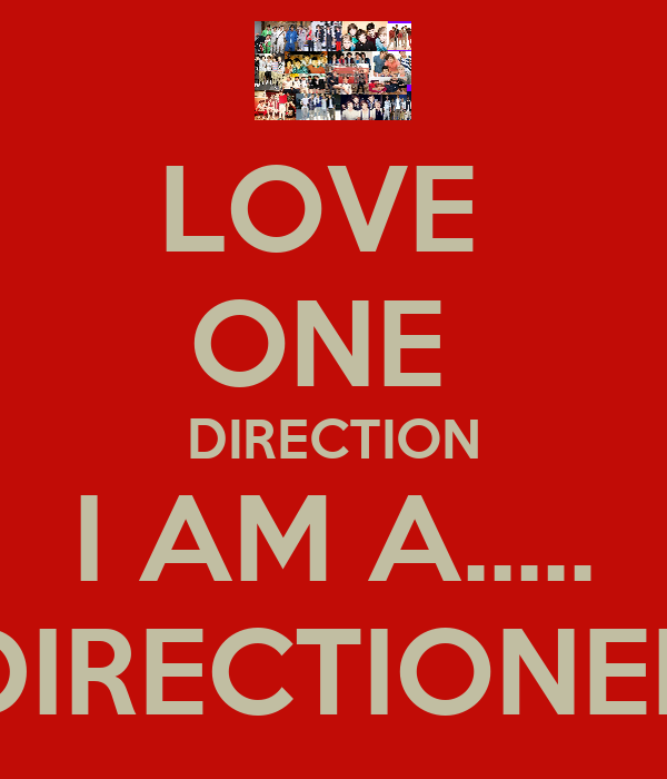 LOVE  ONE  DIRECTION I AM A..... DIRECTIONER