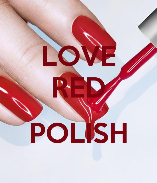 LOVE RED  POLISH