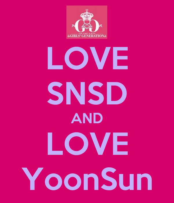 LOVE SNSD AND LOVE YoonSun