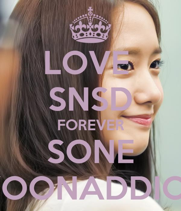LOVE  SNSD FOREVER SONE YOONADDICT