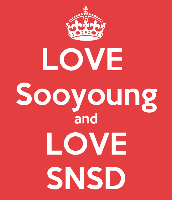 LOVE  Sooyoung and LOVE SNSD