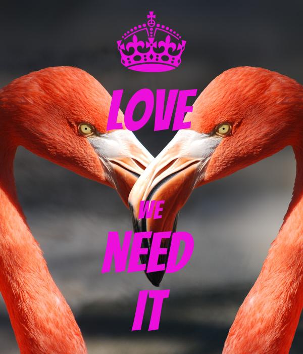 LOVE  we need  it