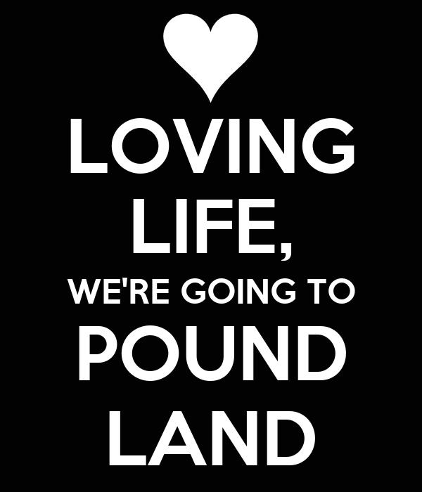 LOVING LIFE, WE'RE GOING TO POUND LAND