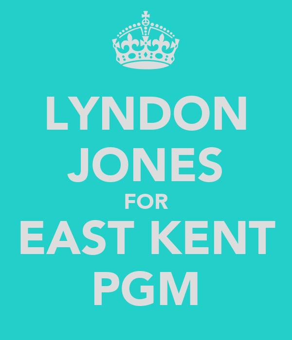 LYNDON JONES FOR EAST KENT PGM
