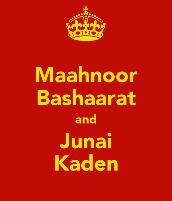 Maahnoor Bashaarat and Junai Kaden