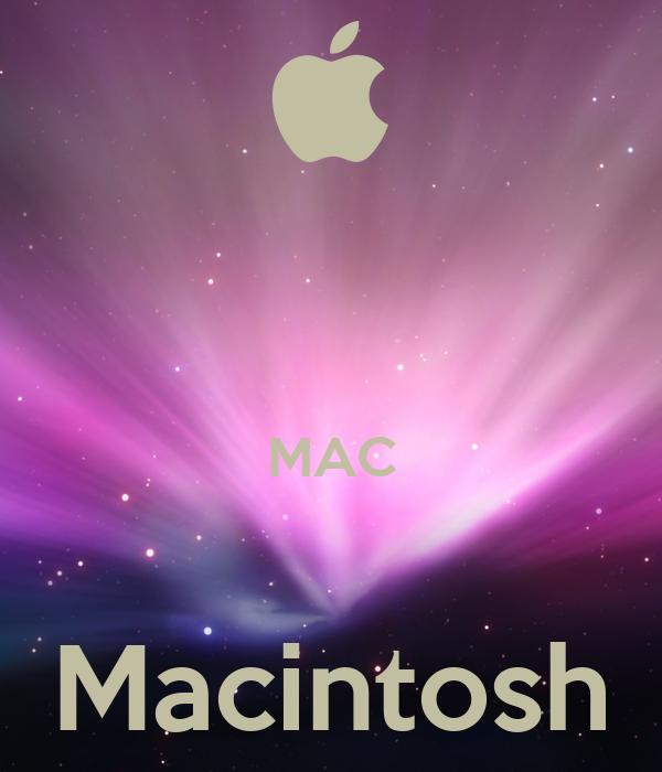 MAC  Macintosh