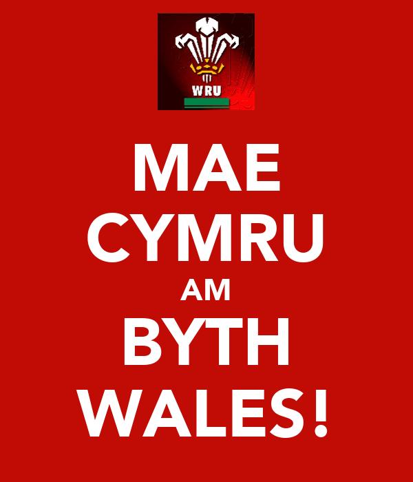 MAE CYMRU AM BYTH WALES!