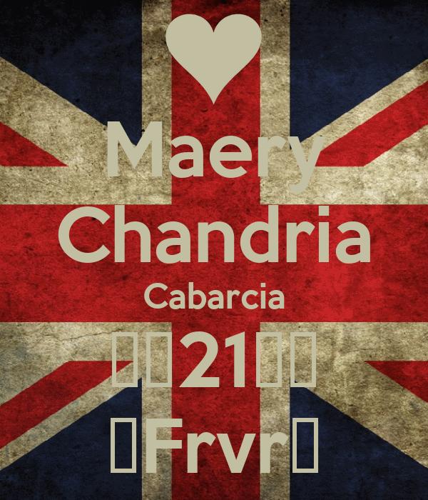 Maery Chandria Cabarcia ♥♥21♥♥ ♥Frvr♥