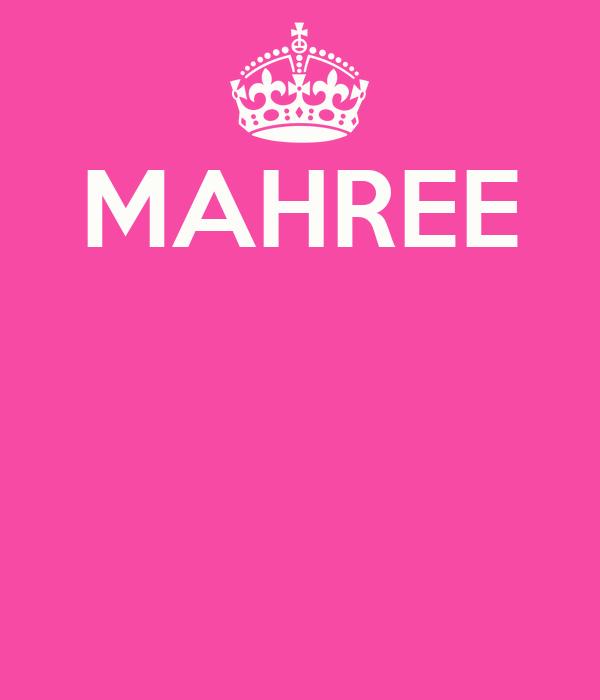 MAHREE