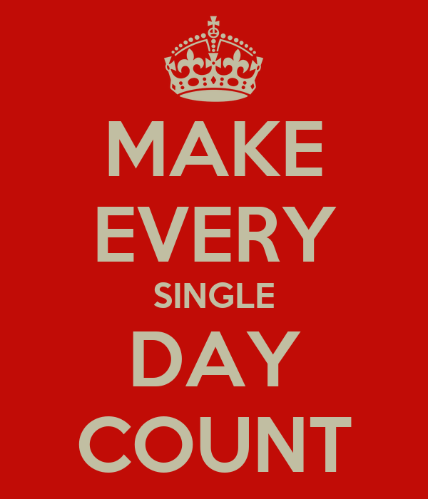 MAKE EVERY SINGLE DAY COUNT