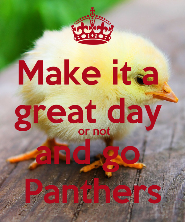Make it a  great day   or not and go  Panthers