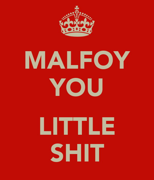 MALFOY YOU  LITTLE SHIT