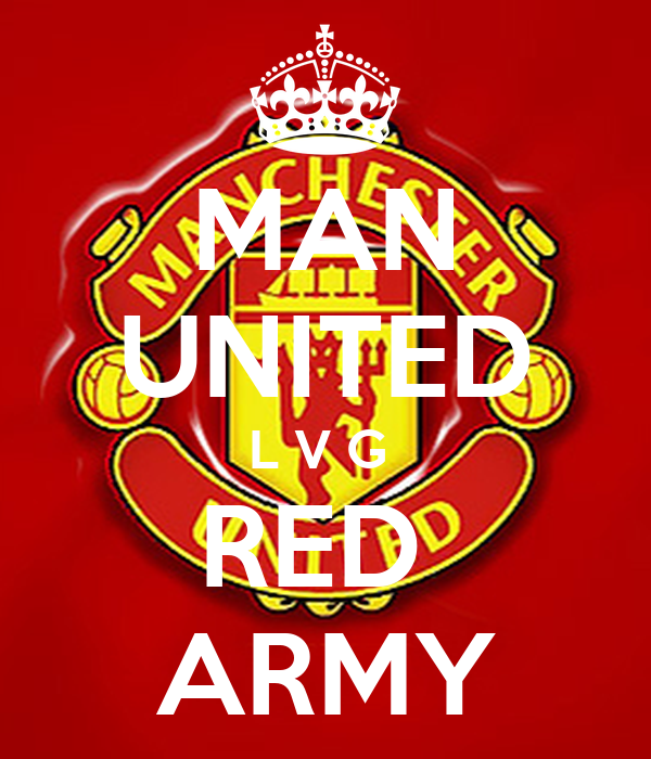 MAN UNITED L V G  RED  ARMY