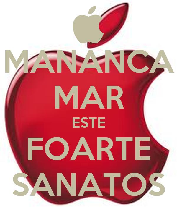 MANANCA MAR ESTE FOARTE SANATOS
