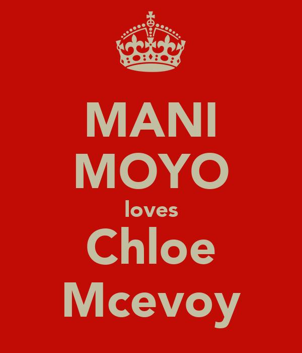 MANI MOYO loves Chloe Mcevoy