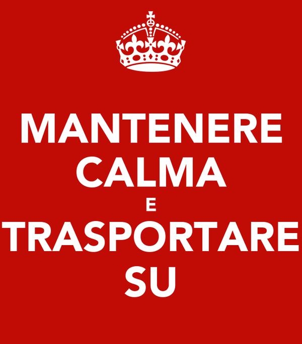 MANTENERE CALMA E TRASPORTARE SU