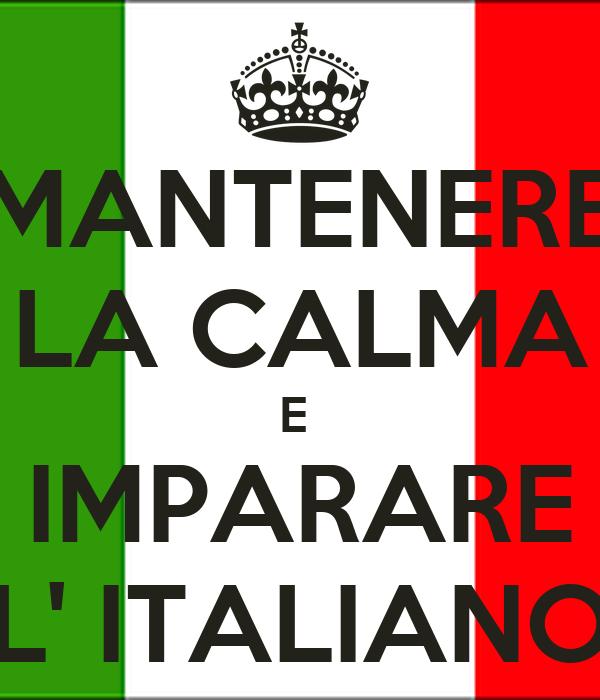 mantenere la calma e imparare l 39 italiano poster joy. Black Bedroom Furniture Sets. Home Design Ideas
